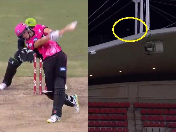 BBL: सीन एबॉट ने जड़ा ऐसा छक्का की सीधे स्टेडियम की छत पर गिरी गेंद, देखें वीडियो 1