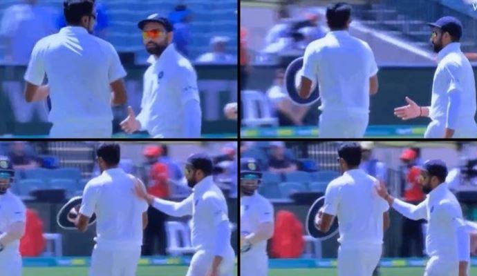 वीडियो: दूसरी पारी में 1 रन बनाने वाले रोहित शर्मा का मैदान पर ही मजाक बना गये रविचन्द्र अश्विन 9