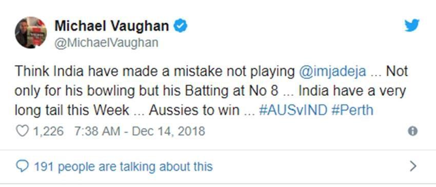 AUS vs IND: दूसरे टेस्ट के पहले दिन विराट कोहली की कप्तानी से नाराज हुए माइकल वान ने दी ये नसीहत 1