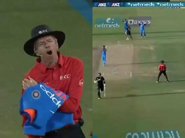 वीडियो: भारत न्यूजीलैंड के बीच मैच के दौरान मजाक मजाक में अंपयार के साथ हुआ कुछ ऐसा, टला दर्दनाक हादसा 1