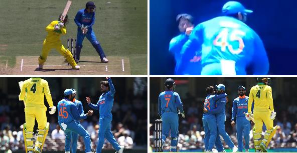 वीडियो: कुलदीप की गुगली में फंसा ये कंगारू बल्लेबाज, रोहित शर्मा का शानदार कैच 12