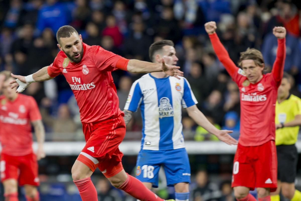 Spanish League: Real Madrid beat Espanyol 4-2