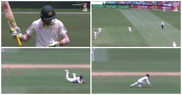 वीडियो: 51.4वें ओवर अजिंक्य रहाणे ने पकड़ा एक बेहद ही अविश्वसनीय कैच, कैच ऐसे जिसे देखने के बाद आपको नहीं होगा अपनी आँखों पर यकीन 6