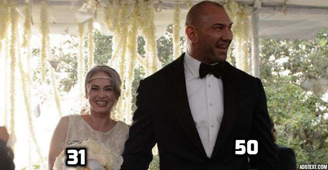 WWE रैसलर और उनकी बीवियां, उम्र में है बाप-बेटी सा फर्क 1