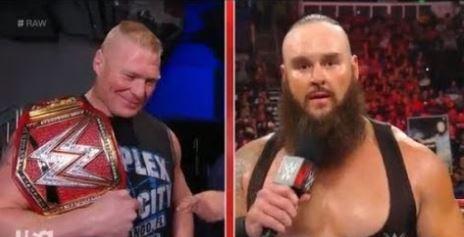 WWE रॉ रिजल्ट्स: 7 जनवरी, 2019, ब्रॉन स्ट्रोमैन और ब्रॉक लैसनर आमने सामने 12