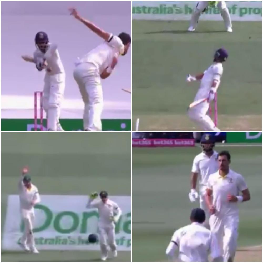 70.2 ओवर में मिचेल स्टार्क ने डाली ऐसा खतरनाक बाउंसर, रहाणे तो क्या दुनिया का कोई भी बल्लेबाज हो जाता आउट 7