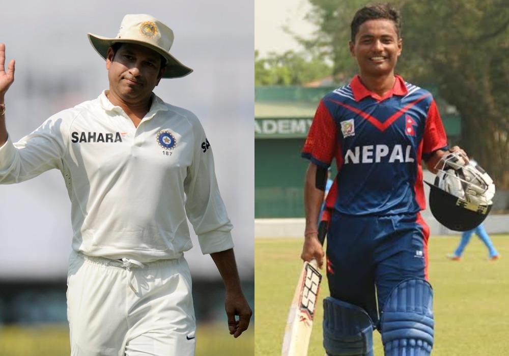 नेपाल के बल्लेबाज रोहित पौडेल ने अपने पहले ही मैच में सचिन तेंदुलकर को पीछे छोड़ बनाया ये विश्व रिकॉर्ड