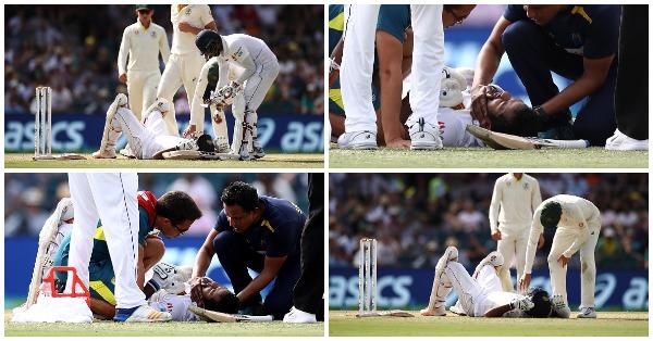 श्रीलंकाई बल्लेबाज दिमुथ करुणारत्ने के साथ मैदान पर दिल देहलाना देना वाला हादसा, सिर के नीचे गेंद लगने की वजह से पहुंचे अस्पताल 8