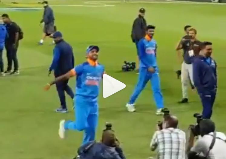 India vs Newzealand- वीडियो: सीरीज जीत के बाद भारत आर्मी के साथ शिखर धवन ने किया भांगड़ा 3