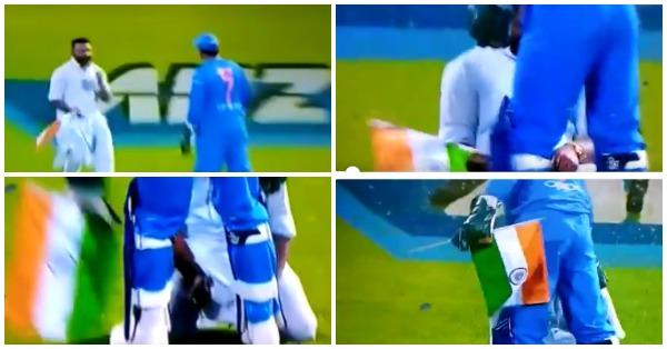 तिरंगा लेकर धोनी के पैर छूने पहुंचा प्रशंसक, राष्ट्र ध्वज के सम्मान में धोनी ने किया कुछ ऐसा जीता करोड़ो भारतीयों का दिल 1