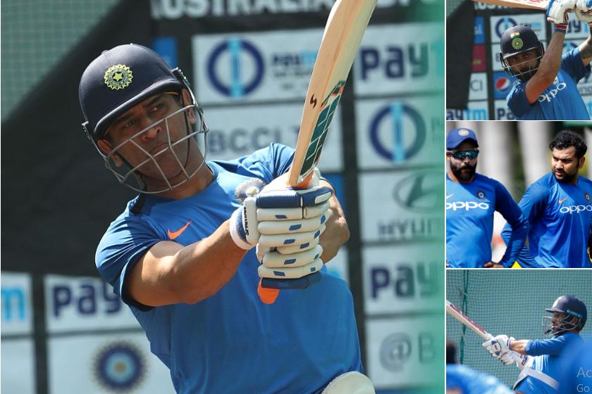 India vs Australia-  नागपुर वनडे से पहले नेट पर दिखा धोनी का आक्रामक अंदाज, बीसीसीआई ने शेयर की तस्वीरें 1
