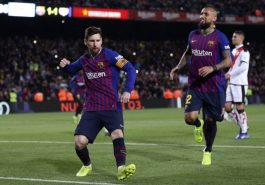 Champions League: Barcelona win two goals from Messi