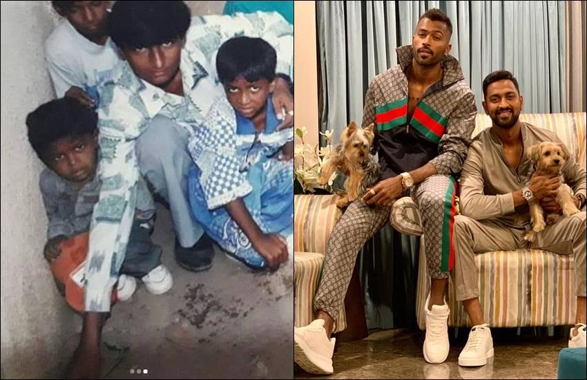 गरीबी के दिनों को याद करते हुए हार्दिक पांड्या ने शेयर की भाई के साथ बचपन की तस्वीरें, लिखा कुछ ऐसा