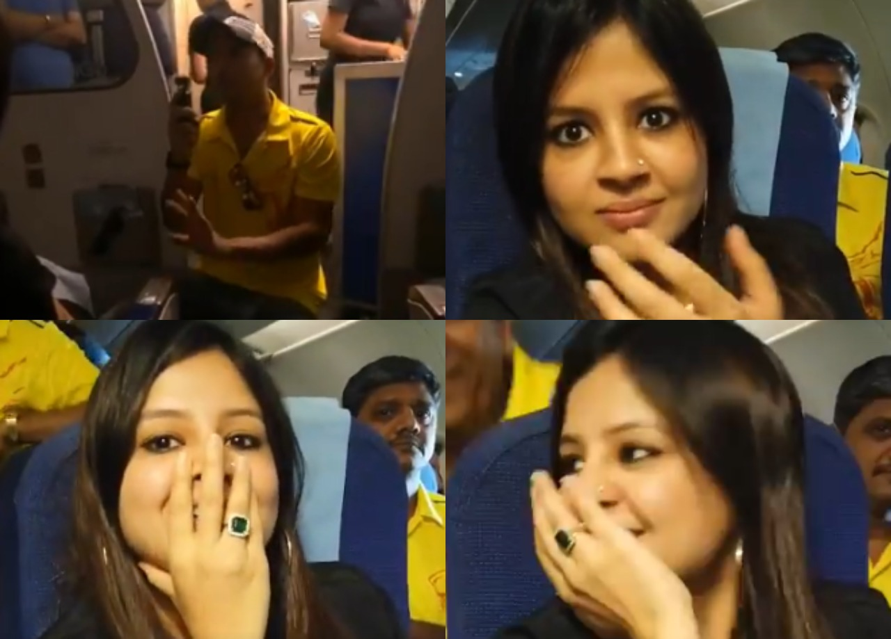 WATCH: मोहित शर्मा ने पूछा ऐसा सवाल, मुंह छुपाती दिखीं साक्षी धोनी 12