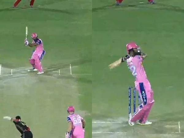 IPL 2019- राहुल त्रिपाठी ने महेन्द्र सिंह धोनी की स्टाइल कॉपी कर राजस्थान को दिलाया जीत, तो देखने लायक था विराट का रिएक्शन 6