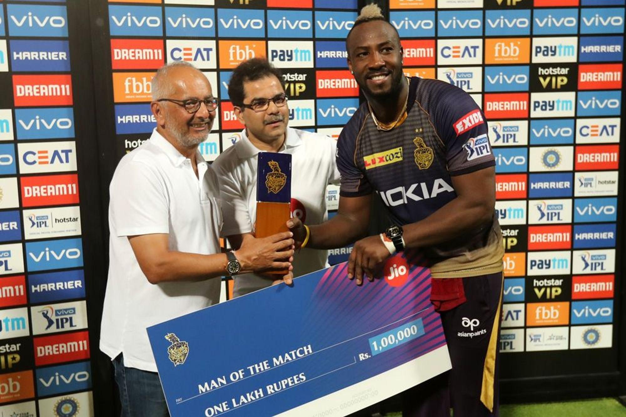 KKRvsMI : 'मैन ऑफ द मैच' आंद्रे रसेल ने बताया अपनी तूफानी बल्लेबाजी का असली राज 1