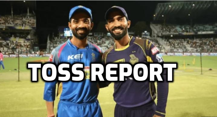 RRvsKKR, टॉस रिपोर्ट: कोलकाता नाईट राइडर्स ने जीता टॉस, इस प्रकार है दोनों टीमों की प्लेइंग इलेवन 6