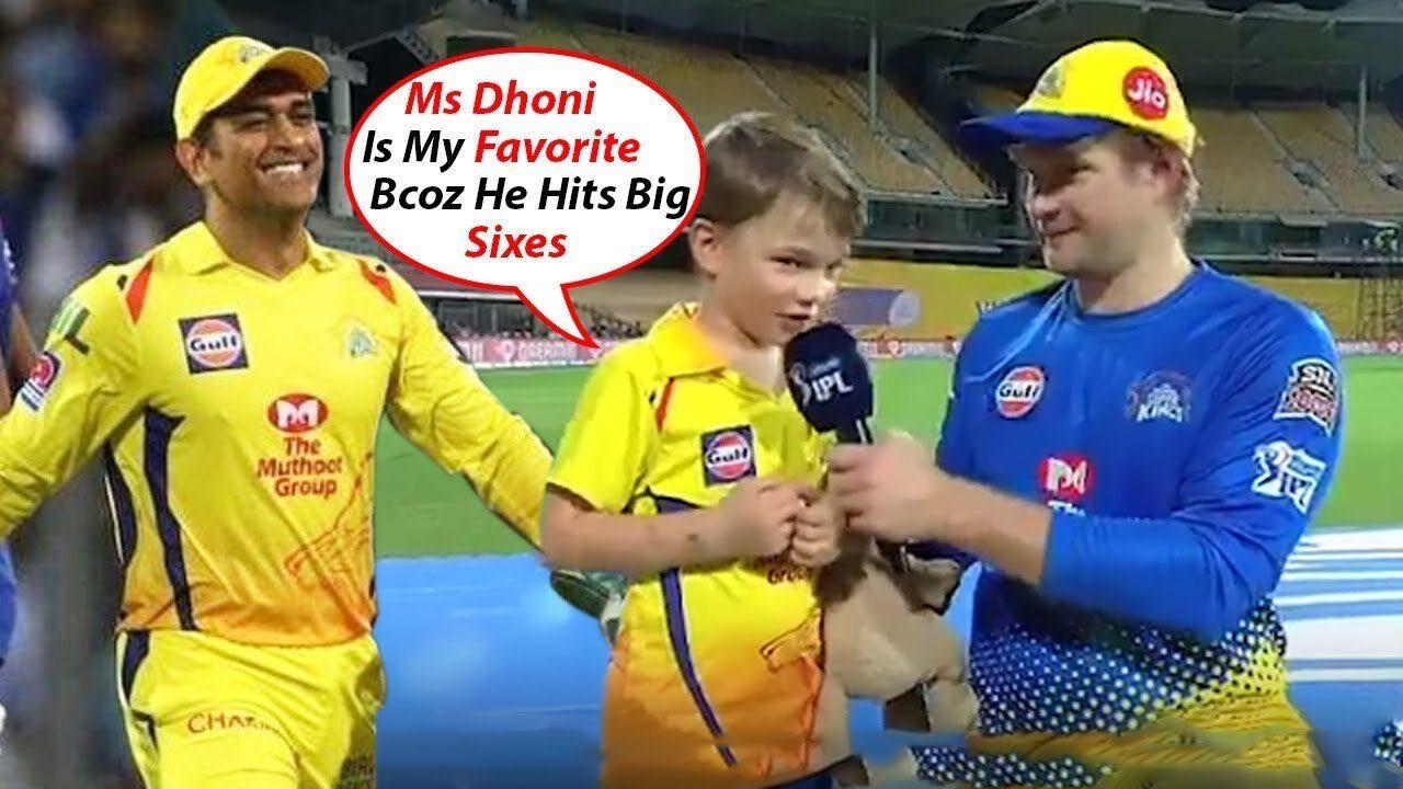 WATCH : शेन वाटसन के बेटे ने पिता को छोड़ इस भारतीय खिलाड़ी को बताया अपना पसंदीदा खिलाड़ी 1