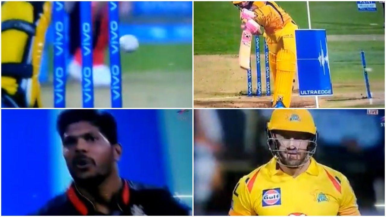 WATCH : उमेश यादव की गेंद स्टंप पर लगी, एक बार फिर से नहीं जली बेल्स 36