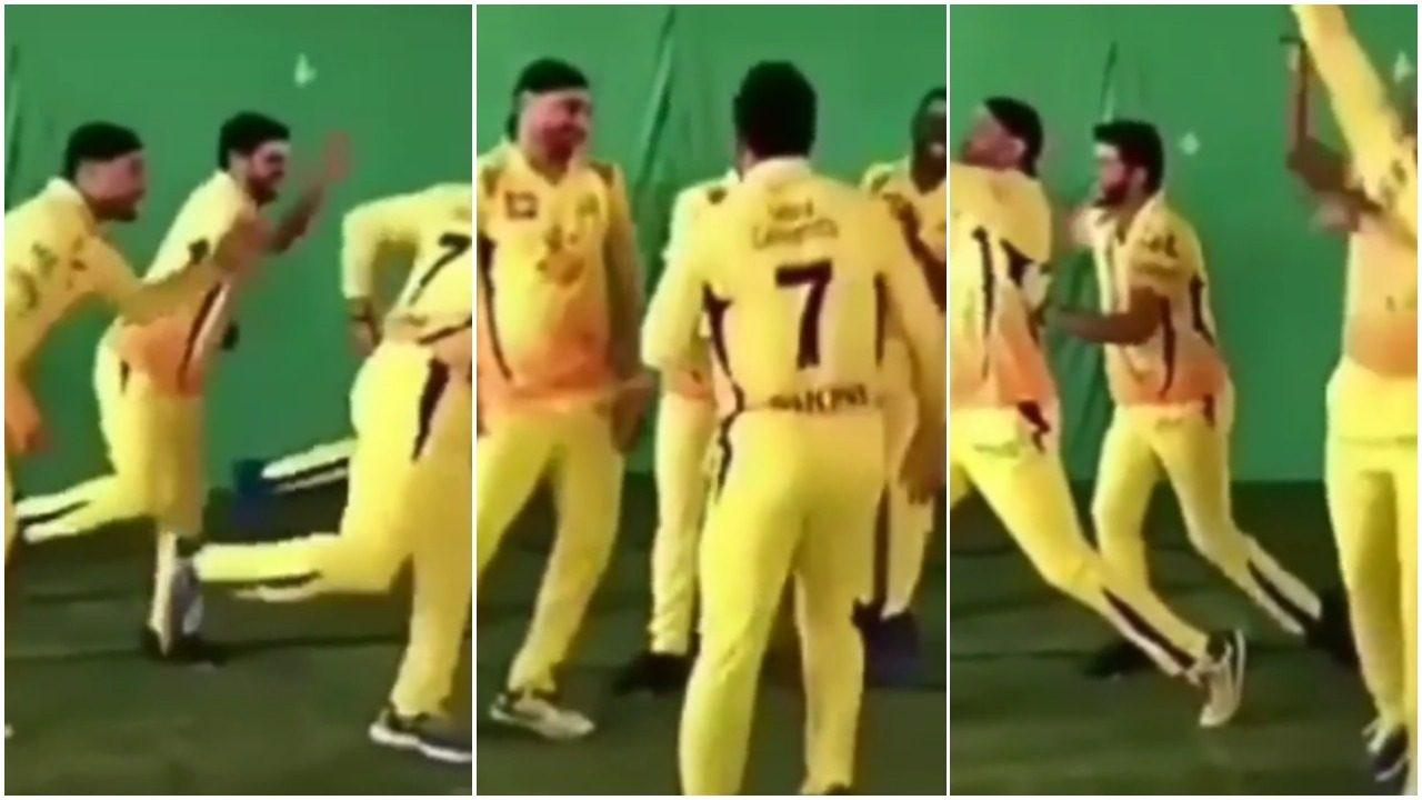 WATCH: महेंद्र सिंह धोनी समेत चेन्नई सुपर किंग्स के खिलाड़ियों का फनी डांस, वीडियो वायरल