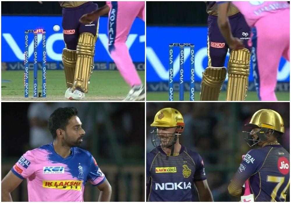WATCH: फिर विवादों में आईपीएल, तेज गेंदबाज का गेंद लगने के बाद भी नहीं गिरी बेल्स 17