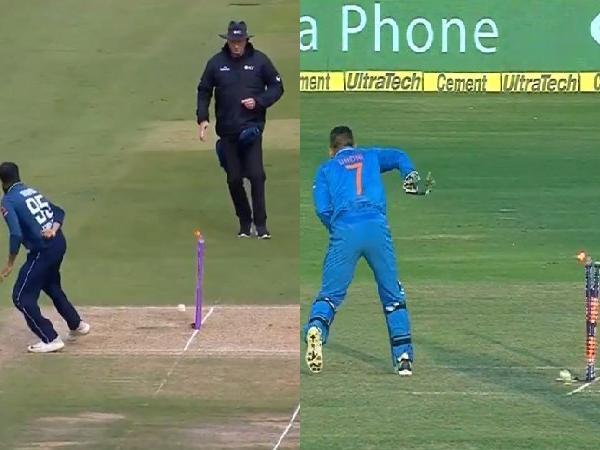 WATCH: पाकिस्तान के खिलाफ अंतिम वनडे में आदिल रशीद ने महेंद्र सिंह धोनी की तरह बिना देखे किया स्टम्प पर थ्रो 1