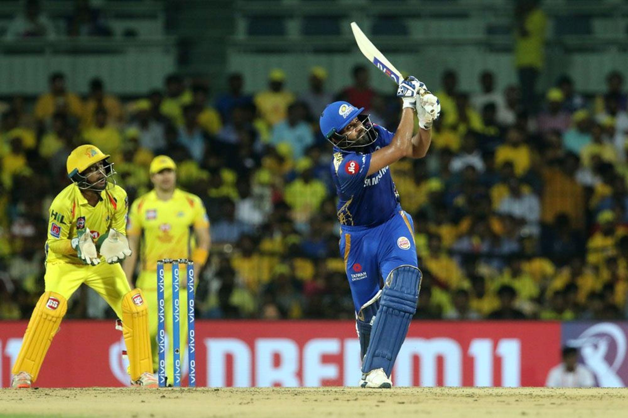 आईपीएल 2019: प्लेऑफ़ में पहुंचने के बाद चेन्नई सुपर किंग्स पर तंज कसते हुए नजर आये रोहित शर्मा 1