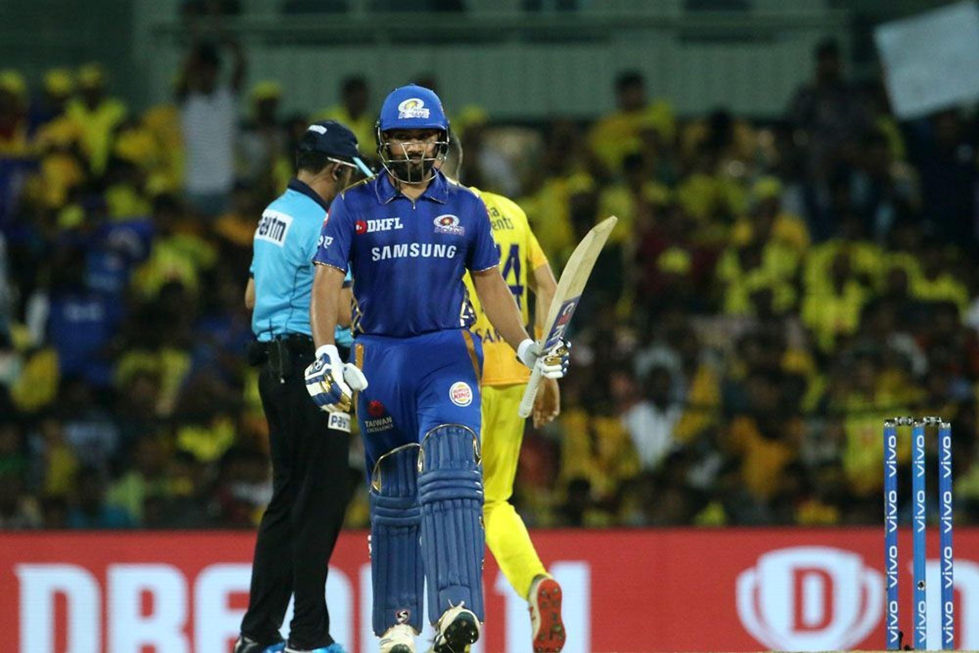 आईपीएल 2019: प्लेऑफ़ में पहुंचने के बाद चेन्नई सुपर किंग्स पर तंज कसते हुए नजर आये रोहित शर्मा 2