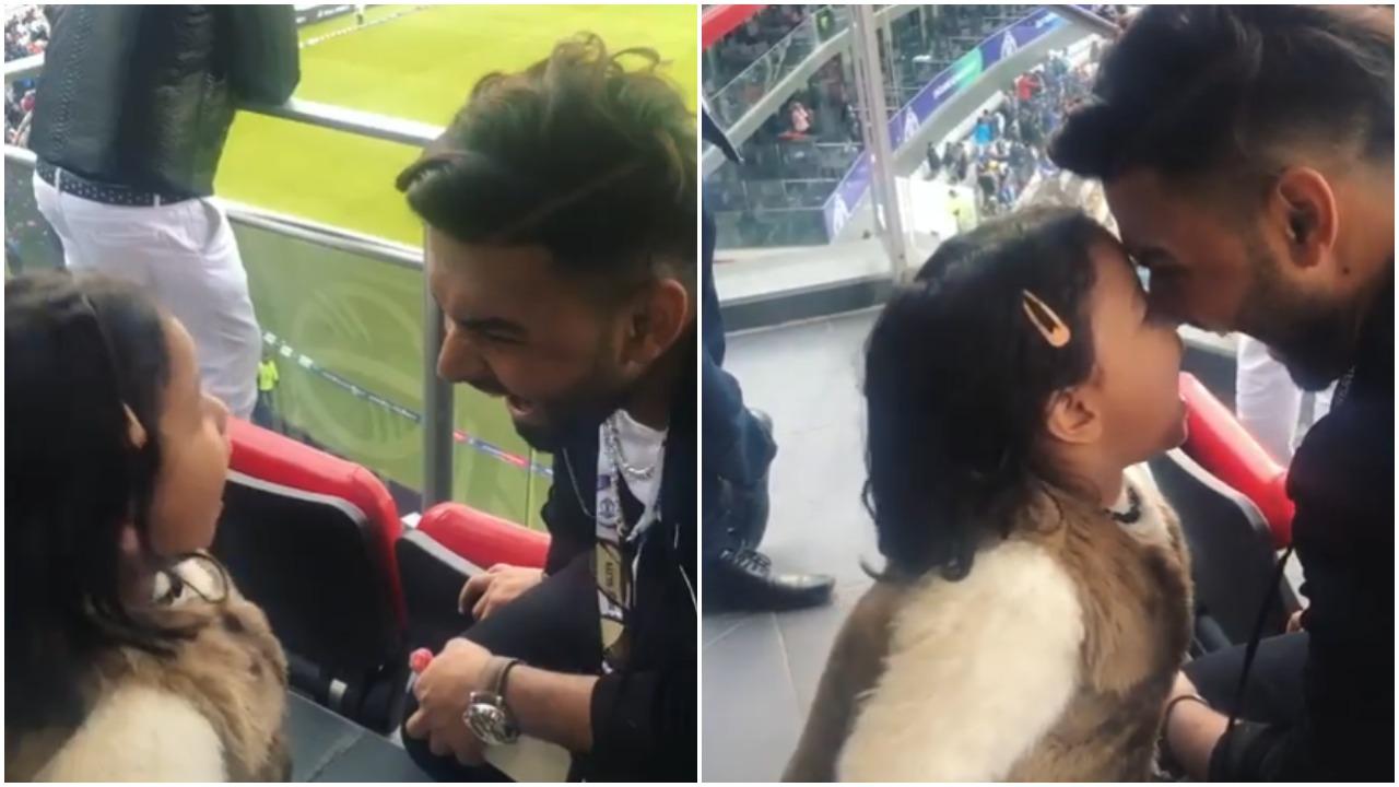 WATCH: भारत- पाक मैच के दौरान ऋषभ पंत और जीवा धोनी ने की जमकर मस्ती, वीडियो वायरल 14
