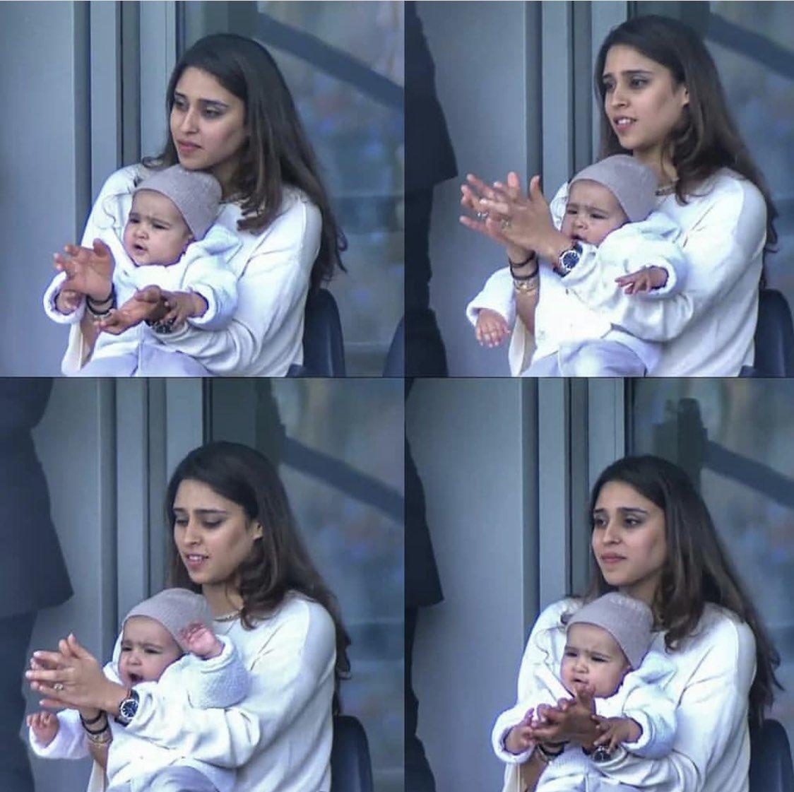 World Cup 2019: मैदान पर रितिका और बेटी समायरा को देख भावुक हुए रोहित शर्मा, ट्वीट कर कही दिल छु जाने वाली बात 1