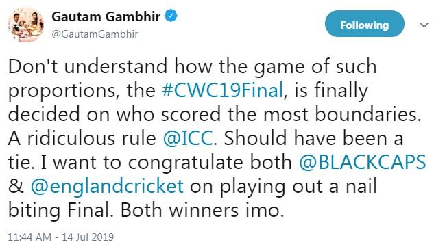 विश्व कप फाइनल में न्यूजीलैंड की हार के बाद एक बार फिर निशाने पर आईसीसी नियमों पर उठने लगी ऊँगली 4