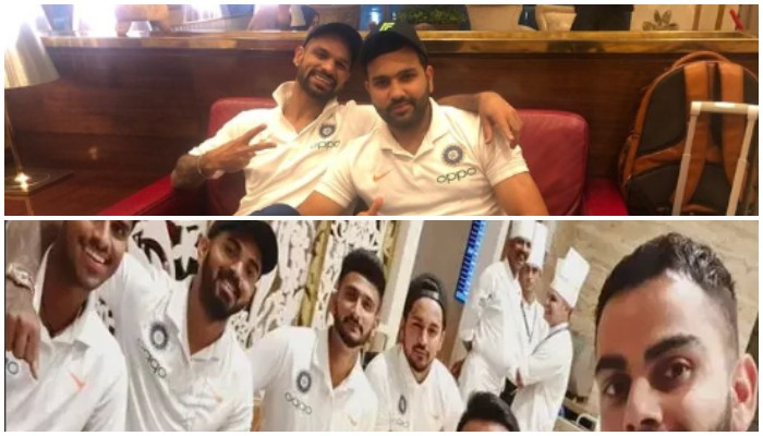 भारतीय टीम में गुटबाजी की एक और तस्वीर आई सामने, रोहित और शिखर दिखे विराट ग्रुप से अलग 9