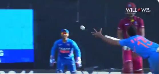 WATCH- भुवनेश्वर कुमार ने अपनी ही गेंद पर पकड़ा एक हाथ से ये अविश्वसनीय कैच, फिर ख़ुश हो कर किया कुछ ऐसा 5