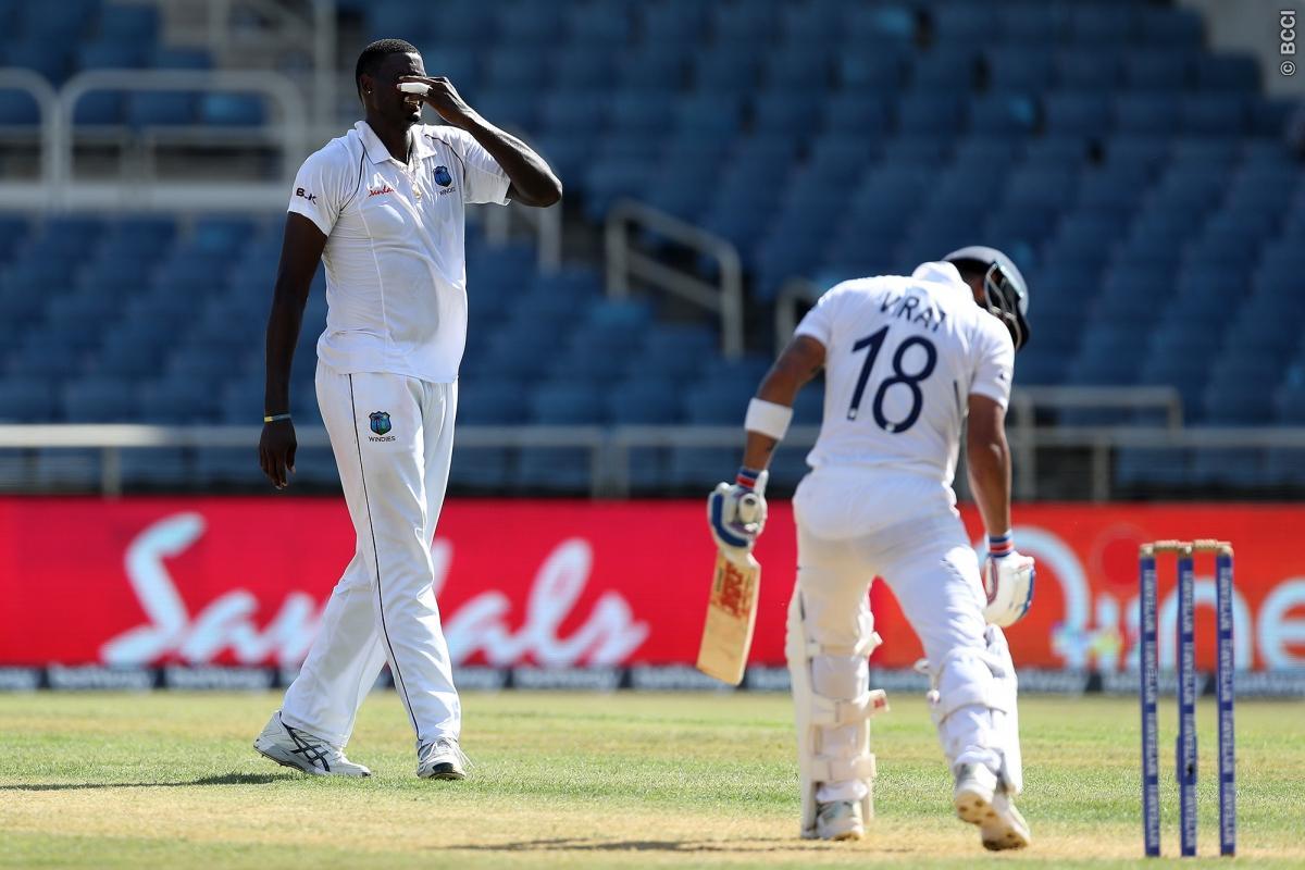 55 रनों की पारी खेलने वाले मयंक अग्रवाल ने कहा वेस्टइंडीज के इस गेंदबाज को खेलना हो रहा था मुश्किल 1
