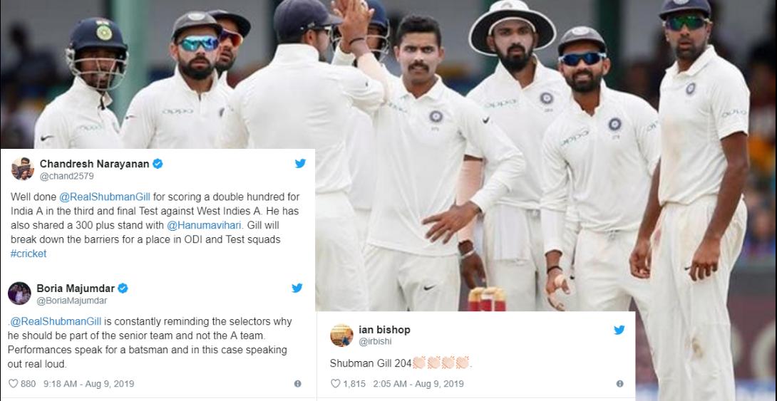 204 रनों नाबाद पारी खेल सोशल मीडिया पर छाये शुभमन गिल, फैंस के निशाने पर एमएसके प्रसाद 16