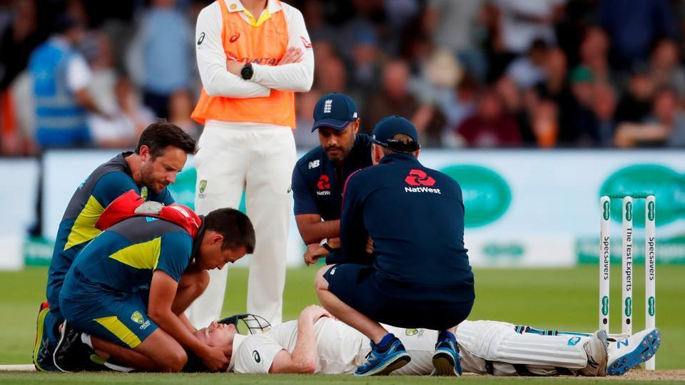स्टीवन स्मिथ की चोट के बाद नेकगार्ड वाले हेलमेट को अनिवार्य करने की उठी मांग, ऑस्ट्रेलिया क्रिकेट टीम के डॉक्टर ने कही बड़ी बात 3