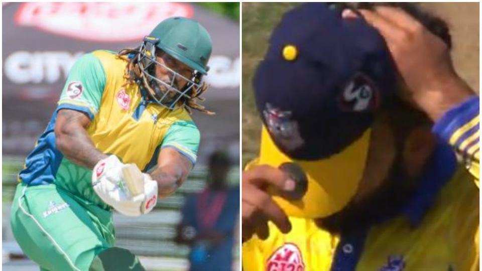 वीडियो- ग्लोबल टी-20 में क्रिस गेल ने इस पाकिस्तानी के एक ओवर में कूटे 32 रन, सोशल मीडिया पर आ रही ऐसी प्रतिक्रिया 1