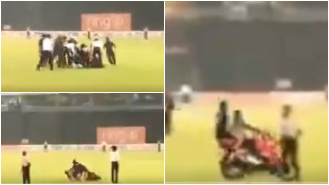 WATCH: श्रीलंका टीम की जीत के बाद जश्न मनाने के दौरान बाइक से गिरे कुसल मेंडिस, बाल- बाल बची जान 3