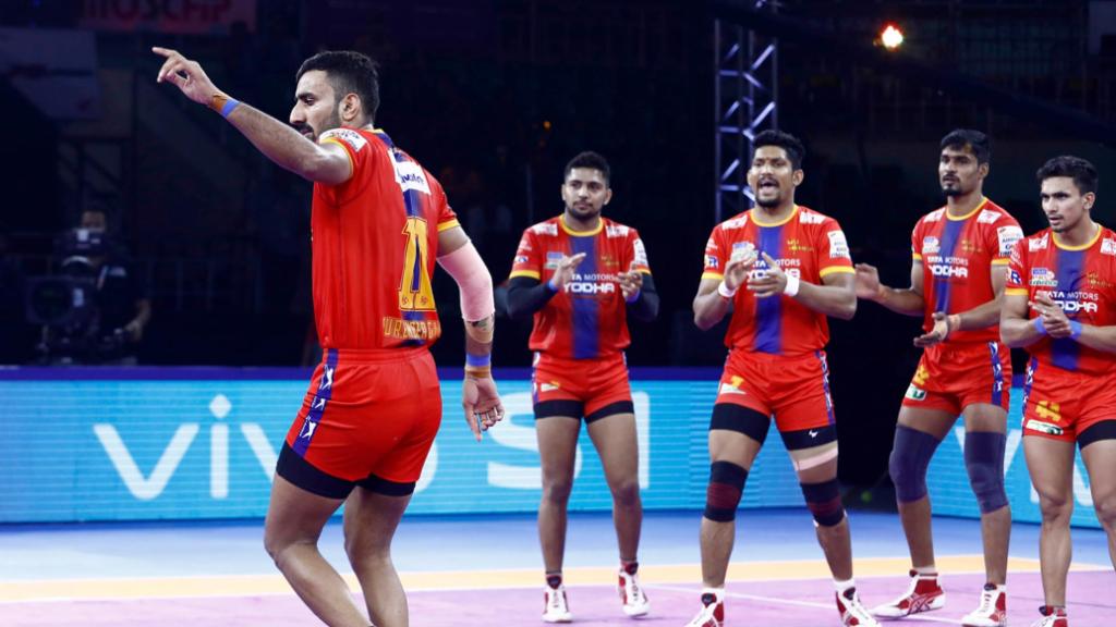 प्रो कबड्डी लीग 2019: यूपी योद्धा ने बड़ा उलटफेर करते हुए जयपुर पिंक पैंथर्स को हराया 3