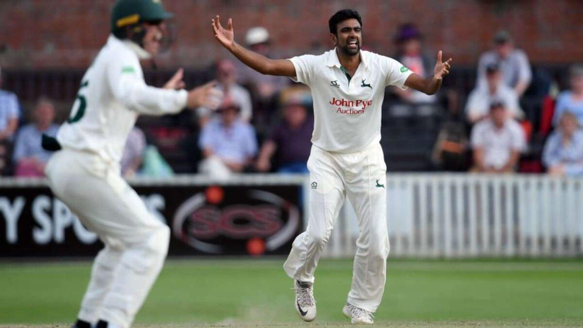 टीम इंडिया में नहीं मिली थी जगह अब काउंटी क्रिकेट में अश्विन का आतंक जारी, पहले पारी में लिए 4 विकेट