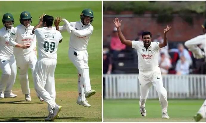 काउंटी मैच में बेहतरीन प्रदर्शन के लिए रविचंद्रन अश्विन को इंग्लैंड में खास सम्मान 3