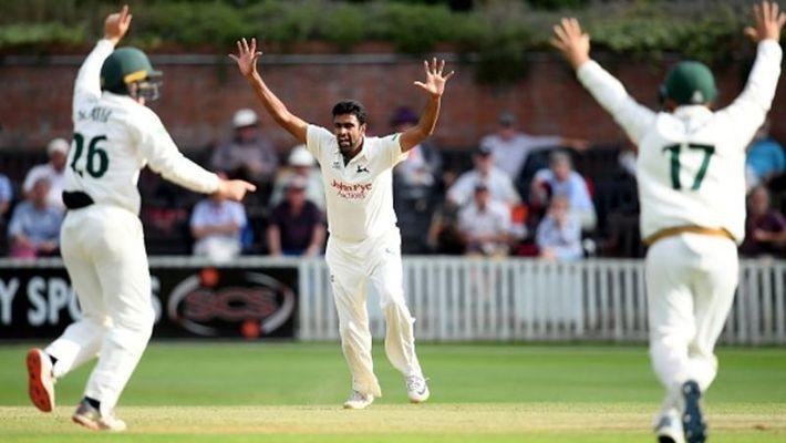 टीम इंडिया में नहीं मिली थी जगह अब काउंटी क्रिकेट में अश्विन का आतंक जारी, पहले पारी में लिए 4 विकेट 1