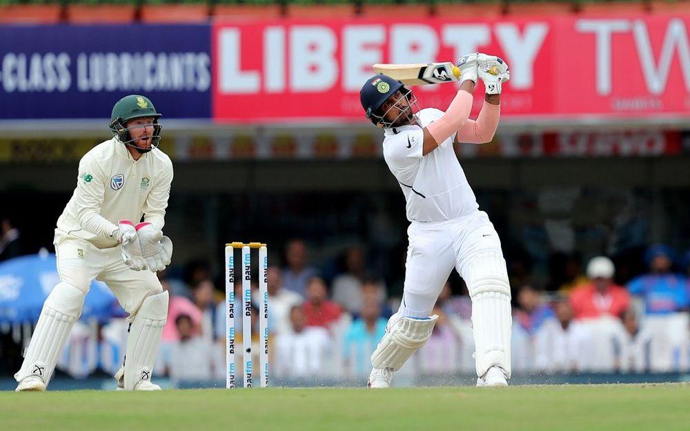 INDvSA, तीसरा टेस्ट: रोहित शर्मा के दोहरे शतक और उमेश यादव के छक्कों की बौछार के बाद भारत ने घोषित की पारी 4