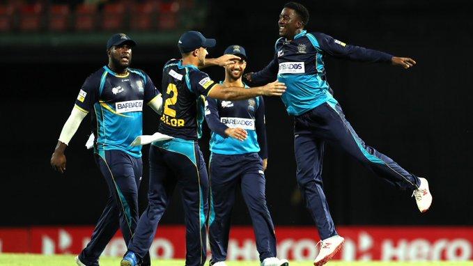 सीपीएल के दुसरे क्वालीफ़ायर में बारबाडोस ट्रिडेंटस ने ट्रिनबागो नाईट राइडर्स को 12 रनों से हरा फाइनल में बनायीं जगह 8