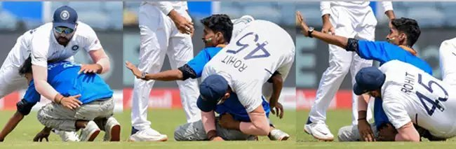 IND vs SA: मैच के बीच में मैदान पर घुस आया रोहित का फैन, तस्वीर पर आ रही कमेंट देख नहीं रुकेगी हंसी