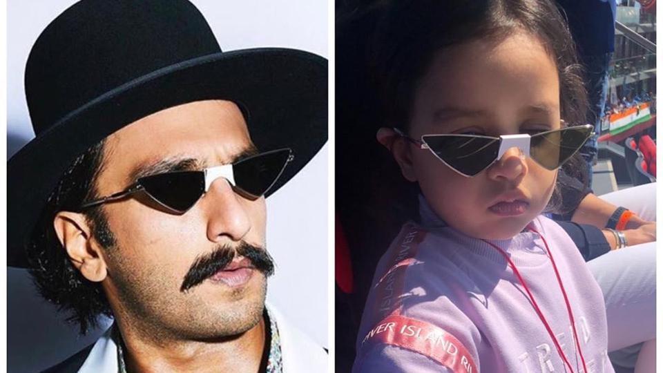 रणवीर सिंह ने जीवा धोनी की तरह चश्मा पहनकर शेयर की तस्वीर, महेंद्र सिंह धोनी ने बनाया मजाक 11