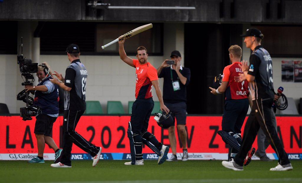NZvENG, चौथा टी-20: इंग्लैंड ने मुकाबले को 76 रनों से जीता, डेविड मलान का शानदार शतक 9