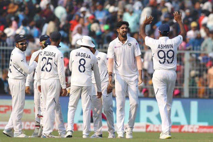 INDvBAN, दूसरा टेस्ट: भारत ने डे-नाइट टेस्ट को पारी और 46 रनों से अपने नाम किया 1