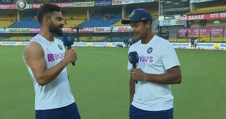मयंक टीम में जगह पक्की करने नहीं बल्कि भारत को जीताने आया है: विराट कोहली 1
