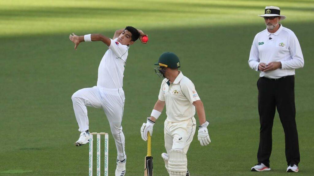 16 साल की सनसनी पाकिस्तानी नसीम शाह के पहले ओवर की स्पीड देख चौंक जाएंगे आप 3